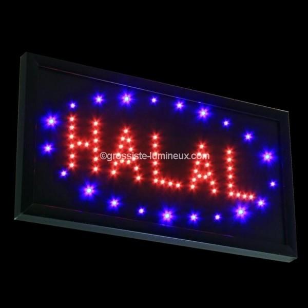 enseigne lumineuse led halal pas cher id al pour la publicit enseignes garanti 2 ans. Black Bedroom Furniture Sets. Home Design Ideas