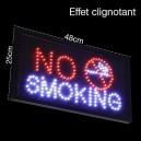 """Enseigne Lumineuse """"NO SMOKING"""""""