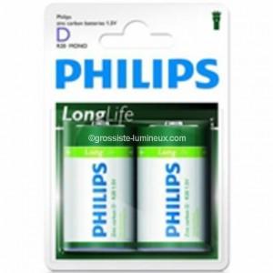 "Pile Phillips 1.5V - D-LR20 ""LongLife"""