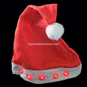 Bonnet de Noël lumineux \u0026quot;Flocons\u0026quot;