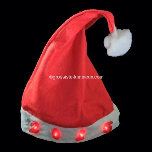 Bonnet de Noël lumineux \u0026quot;2015\u0026quot;