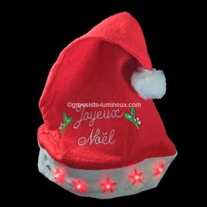 """Bonnet de Noël lumineux """"Etoile"""""""
