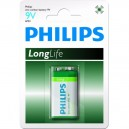 "Pile Phillips 9V - 6LR61 ""LongLife"""