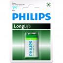 """Pile Phillips 9V - 6LR61 """"LongLife"""""""