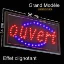 "Enseigne Lumineuse ""OUVERT"" Grand Modèle"