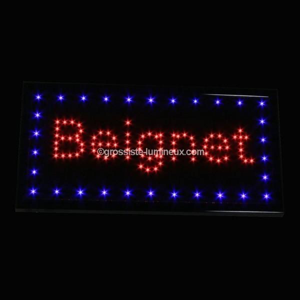 enseigne lumineuse led beignet id al pour la publicit enseignes garanti 2 ans. Black Bedroom Furniture Sets. Home Design Ideas