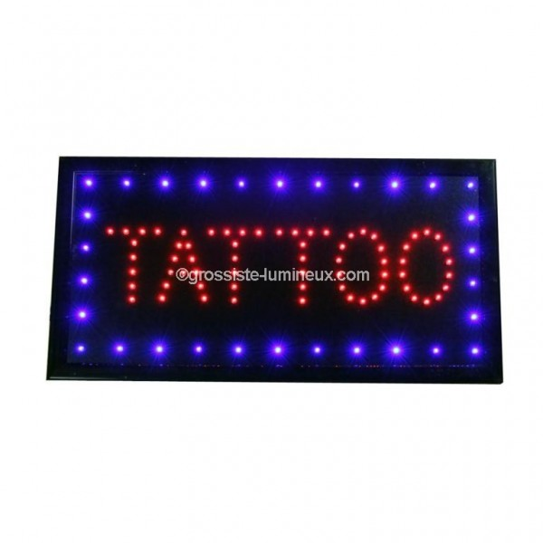 enseignes lumineuses leds tattoo id al pour la publicit enseignes garanti 2 ans. Black Bedroom Furniture Sets. Home Design Ideas
