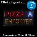 "Enseigne Lumineuse leds ""PIZZA A EMPORTER"""