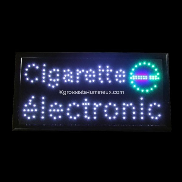 enseigne lumineuse led cigarette electronique id al pour la publicit enseignes garanti 2 ans. Black Bedroom Furniture Sets. Home Design Ideas