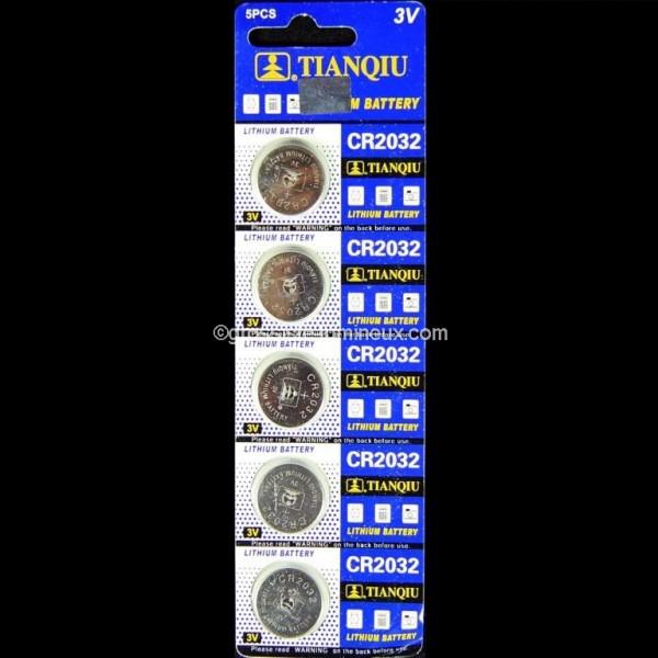 piles bouton cr2032 x5 accessoires batteries vente en. Black Bedroom Furniture Sets. Home Design Ideas