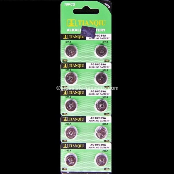 piles bouton ag10 x10 accessoires batteries vente en. Black Bedroom Furniture Sets. Home Design Ideas