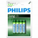 "Pile Phillips 1.5V - AAA-LR03 ""LongLife"" (X4)"