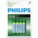 "Pile Phillips 1.5V - AAA-LR03 ""LongLife"" (X4)"