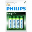 "Pile Phillips 1.5V - AA-LR06 ""LongLife"" (X4)"