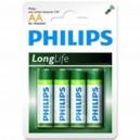 "Pile Phillips 1.5V - AA-LR06 ""LongLife"" (X4)"