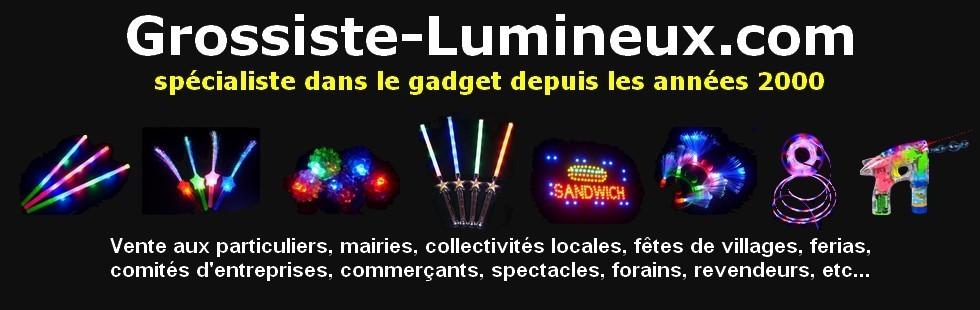 Grossiste spécialiste de la vente en lots de Cadeaux et Articles Lumineux - Grossiste Lumineux